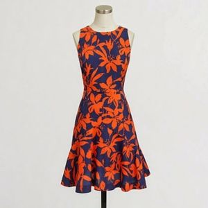 J. Crew Factory | Flared Floral Dress
